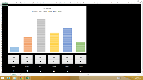 Keeping track of points in Excel 2013