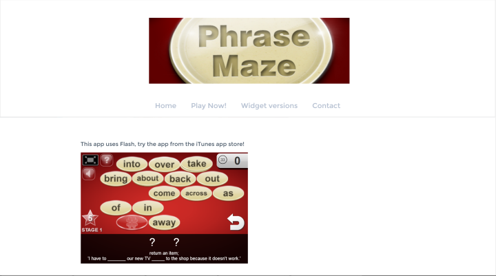 Phrase Maze - Flash Game