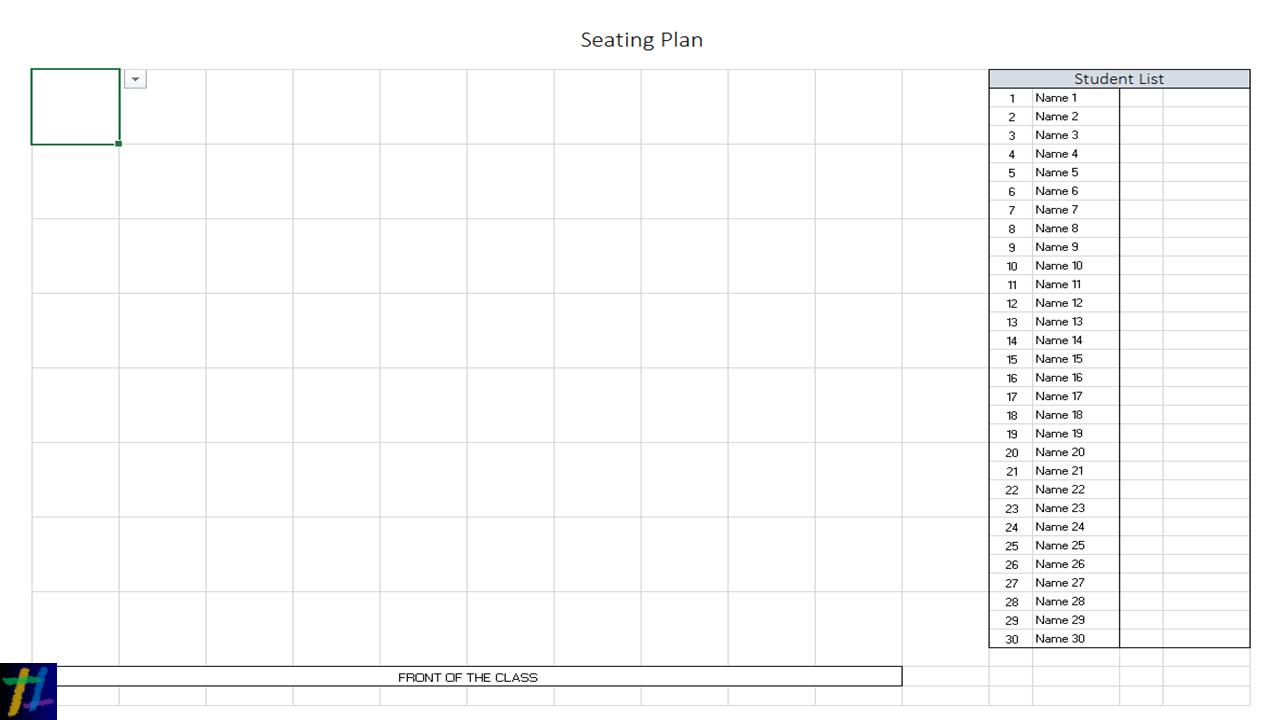 Blank Seating Plan Template