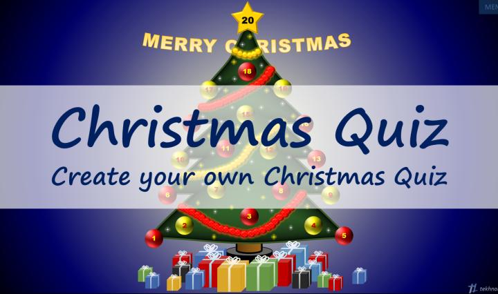 Christmas Quiz Template – tekhnologic