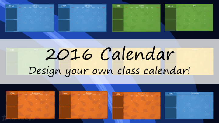 2016 Calendar - Featured Image