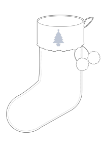 Christmas Stocking - Blank Template