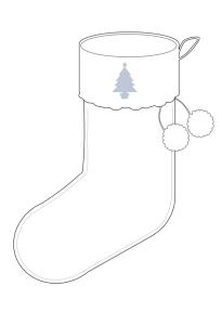 Christmas Stocking - Blank Template