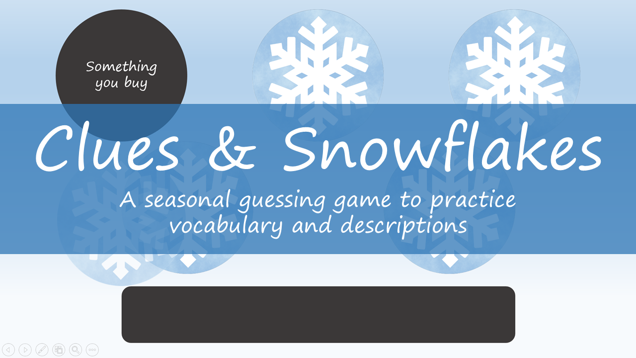 Clues & Snowflakes - Featured Image