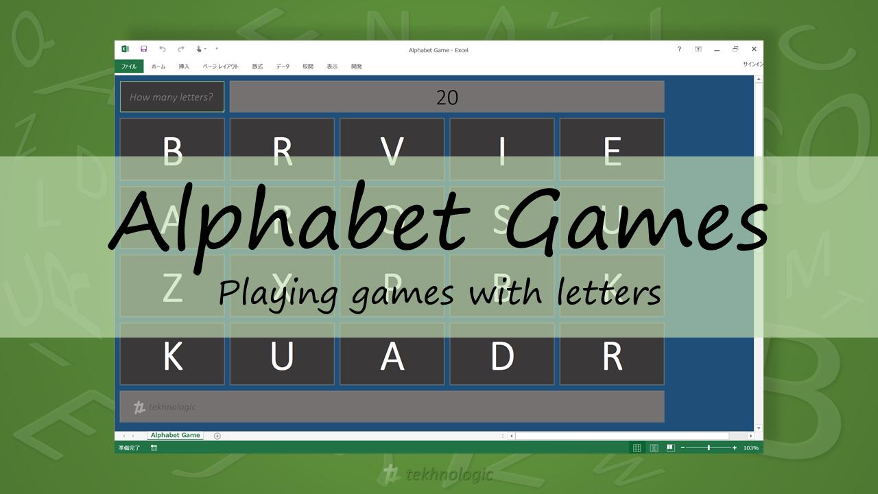 Alphabet Games - Featured Image