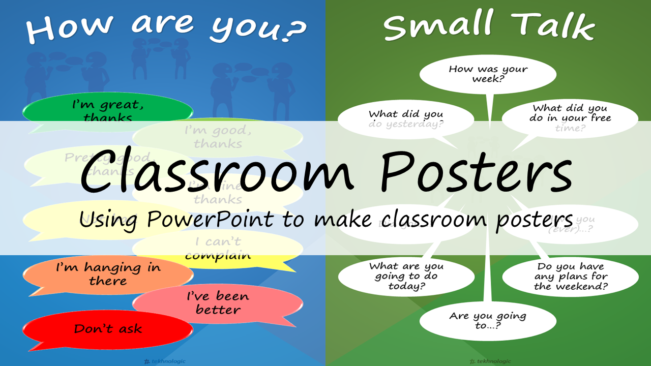 Classroom Posters: Using PowerPoint to make classroom posters ...