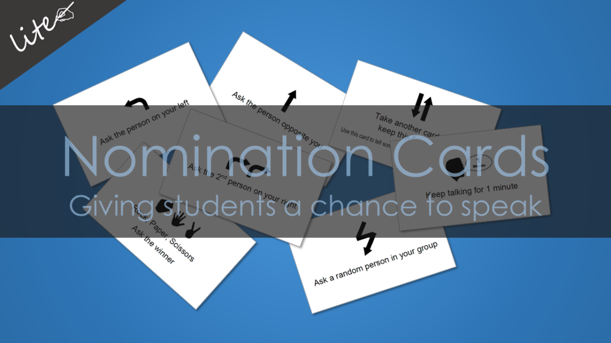 Nomination Cards: Giving students a chance to speak