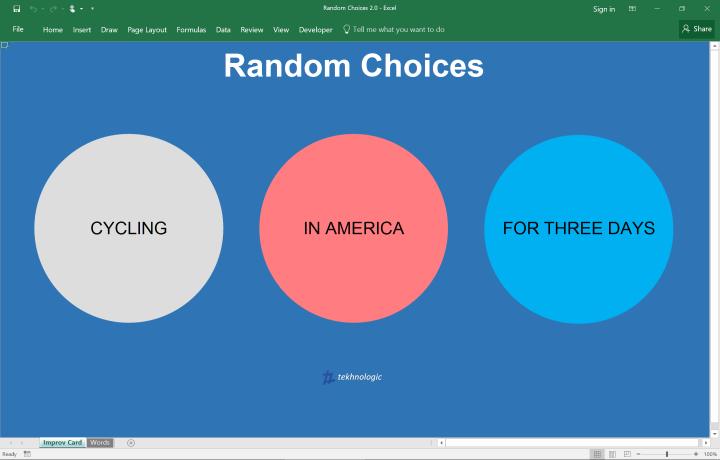 Random Choices 2.0 - Screenshot