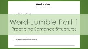 Word Jumble Part 1