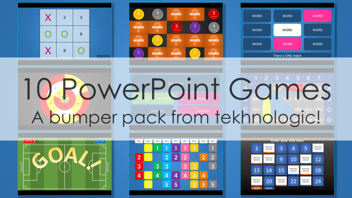 10 PowerPoint Games tekhnologic – Power Point Game Template