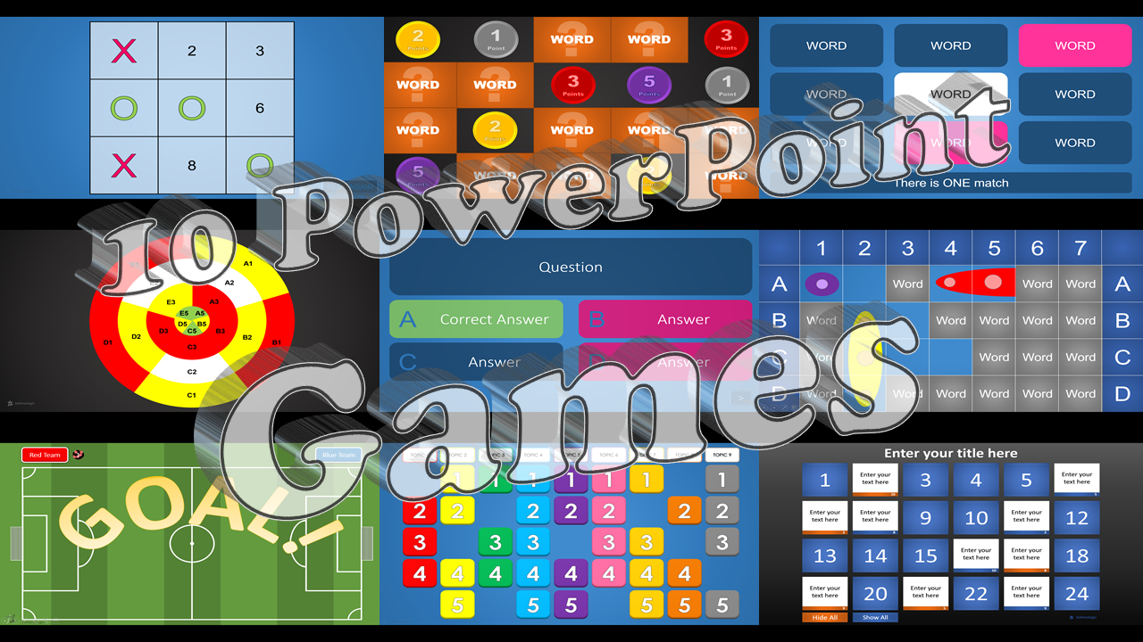 10 PowerPoint Games  tekhnologic