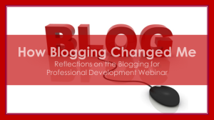 How Blogging Changed Me - Featured Image