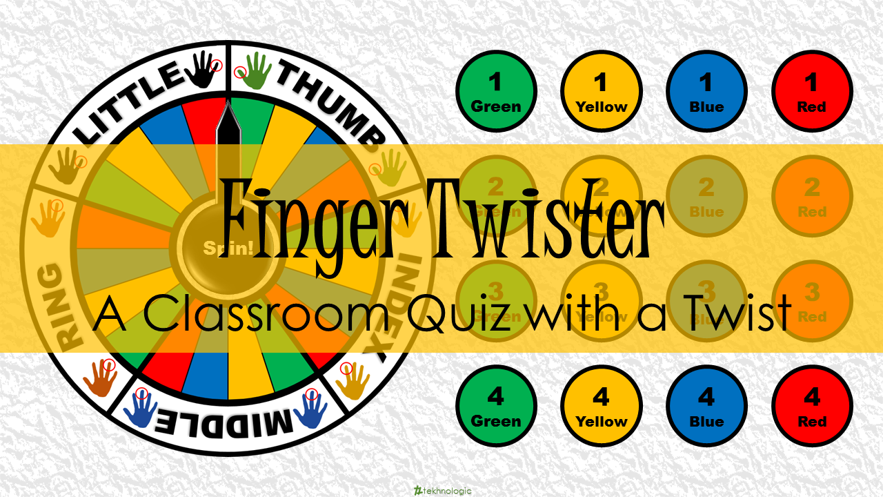 Finger Twister A Classroom Quiz With Twist Tekhnologic Png 1280x720 Game Spinner Template