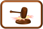 Gavel Slam Button