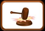 Gavel Slam Button