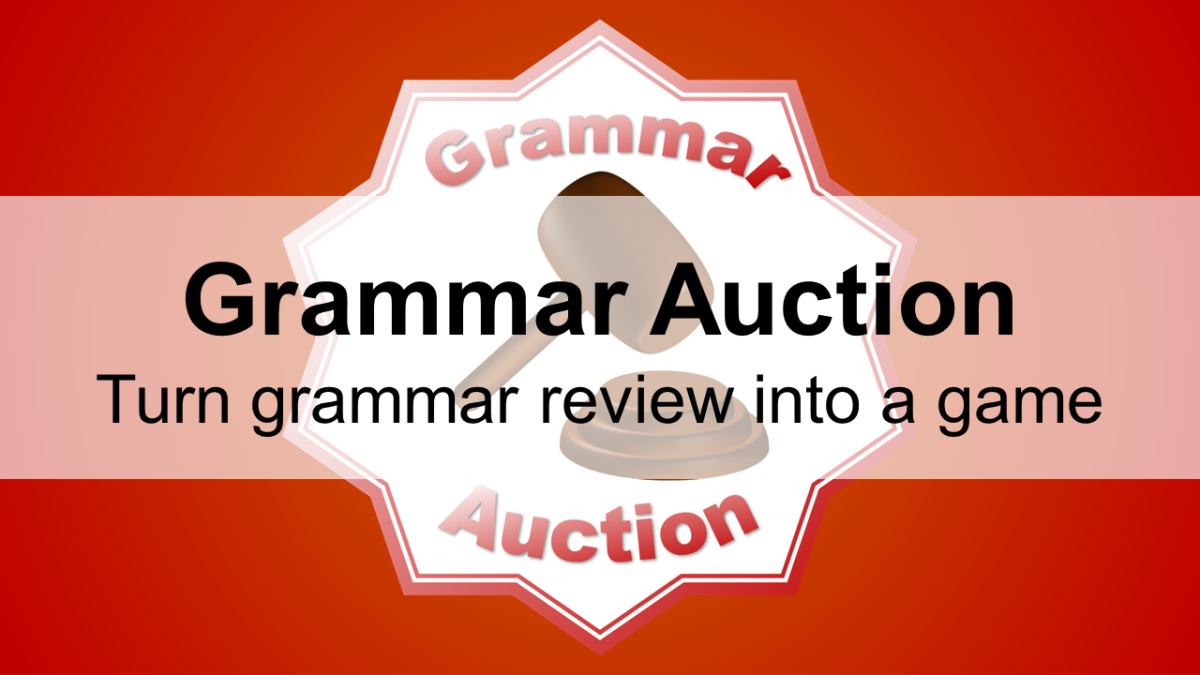 Grammar Auction: Turn grammar review into a game