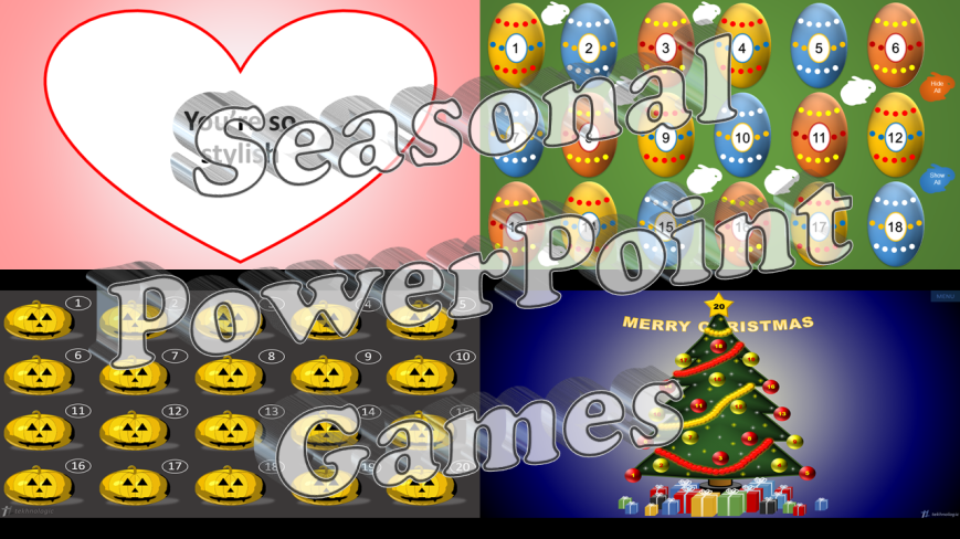 Seasonal PowerPoint Games - Featured Image