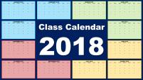 Class Calendar Template 2018 - Featured Image