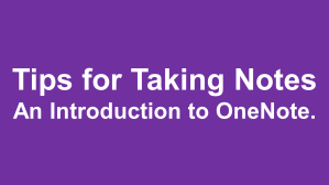 OneNote Article Link
