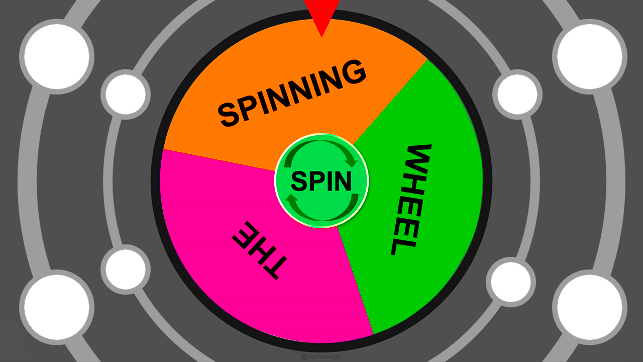 image about Twister Spinner Printable named The Spinning Wheel tekhnologic